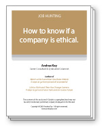 How to know if a company is ethical.