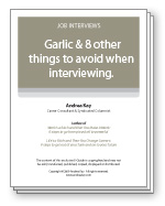 Garlic & 8 other things to avoid when interviewing.