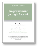 Is a government job right for you?